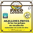Mejillones fritos en escabeche de las rías gallegas 6-8 piezas Lata 75 g Paco lafuente