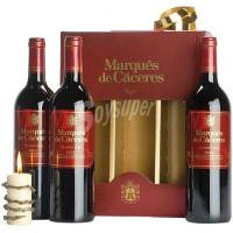 Marqués de Cáceres Vino Tinto Crianza Rioja Pack 3 x 75 cl