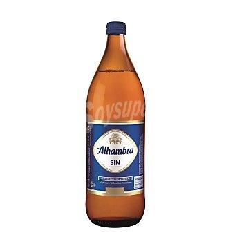 Alhambra Cerveza sin alcohol Botella 1 litro