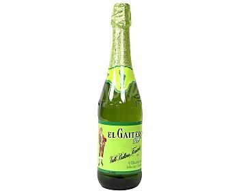 EL GAITERO Sidra (mosto de manzana fermentado y desalcoholizado) sin alcohol botella de 75 centilitros