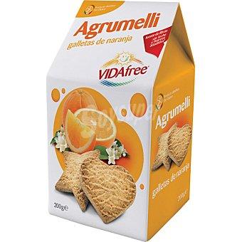 VIDAFREE Galletas de naranja sin gluten Envase de 200 g