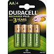 Recharge Plus pila alcalina AA hr-06 blister 4 unidades blister 4 unidades Duracell