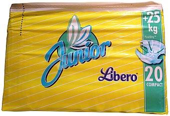 Libero Pañal junior A partir 25 Kg Paquete 20 unidades