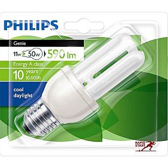 Philips (50 W) lámpara ahorro blanco frío casquillo E27 (grueso) 220-240 V Genie 11 W 1 unidad