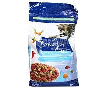 Auchan Comida Seca para Gato Multicroc de Salmón Bolsa 4 Kilos