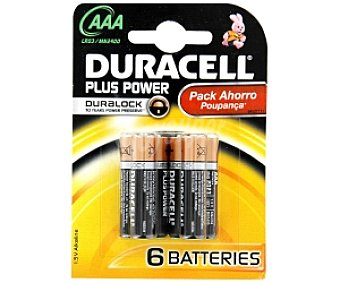 AAA DURACELL Pila Plus Power Pack 4+2 unid