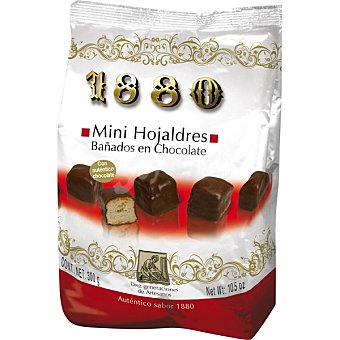 1880 Mini hojaldres bañados en chocolate Bolsa 300 g