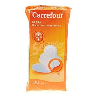 Carrefour Compresa ultra con alas normal 28 ud