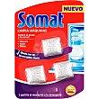 Limpia máquinas de lavavajillas en pastillas contra la grasa y la cal envase 3 unidades usar con el lavavajillas lleno Envase 3 unidades Somat