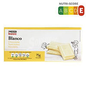 Eroski Basic Chocolate blanco 75g
