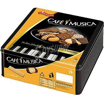 GRIESSON Café y Música Galletas surtidas Lata 1 kg