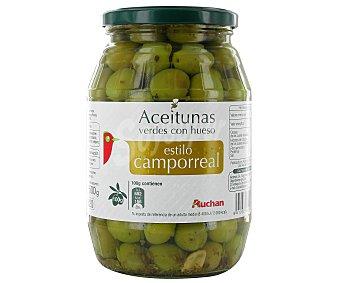 Auchan Aceituna con Hueso Estilo Camporreal Tarro 500 Gramos