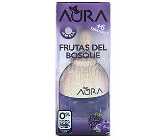 AURA Ambientador de coche con perfumador de madera para colgar con olor a frutas del bosque 1 unidad