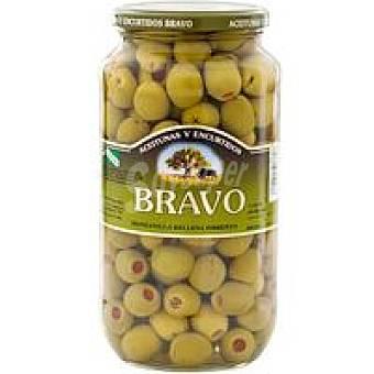 Bravo Aceitunas sabor manzan. rellenas de pimiento Tarro 550 g