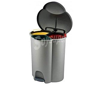 Curver Cubo de basura con pedal y separadores, trío Ecolife( , 1 x 16 litros) 2 x 17 litros