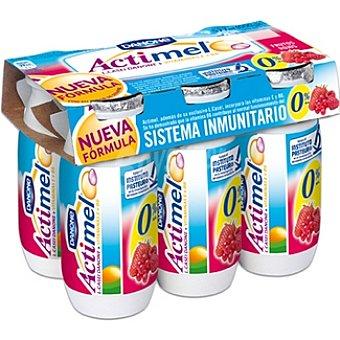 Danone Actimel Yogur líquido frutos rojos Pack 6 unidades 100 g