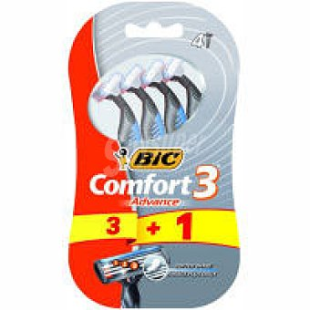 Bic Maquinilla Confort 3 Advance Pack 4 unid