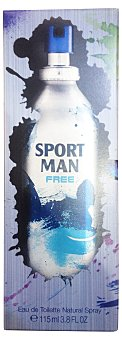 Sport Man Eau toilette hombre free vaporizador (envase metálico) Botella de 115 cc