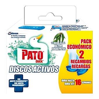 Pato Discos activos lejía aroma eucalipto 2 recambios
