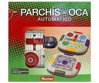 Auchan Juegos de mesa automáticos, Parchís y Oca, de 2 a 4 jugadores 1 unidad