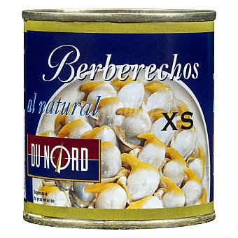 Dunord Berberechos natural xs (pequeños) Bote 185 g escurrido 90 g
