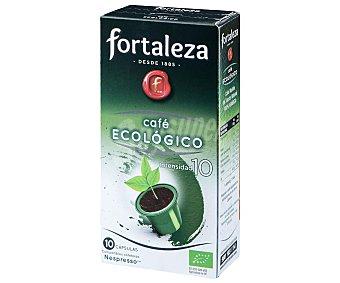 Fortaleza Café en monodosis de agricultura ecológica, compatibles con Nespresso Caja 10 cápsulas