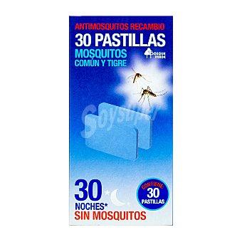 Bosque Verde Insecticida eléctrico pastillas recambio mosquitos Caja 30 u
