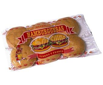 Paybo Pan para Hamburguesas 6 uds x 350 g