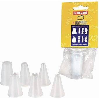 IBILI Moldes boquillas para manga pastelera set de 6 unidades 6 unidades