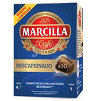 Marcilla Café descafeinado en cápsulas 10 u.