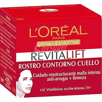 Revitalift L'Orèal Paris Crema antiarrugas día rostro contorno y cuello Tarro 50 ml