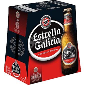 Estrella Galicia cerveza rubia nacional especial  pack 6 botellas 25 cl