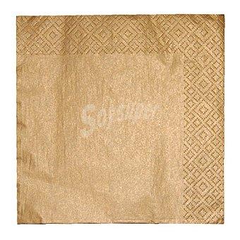 Gold 20 Servilletas desechables 33x33 cm 3 capas 20 ud