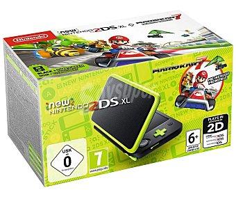 Nintendo Consola new 2DsXL color verde lima más videojuego Mario kart 7, NINTENDO.
