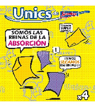 UNICS 4 bayetas multiuso