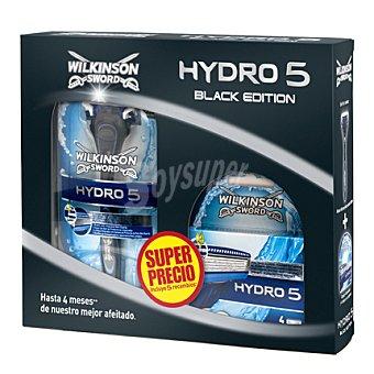 Wilkinson Pack afeitado Hydro 5 Black Edition (maquinilla + 5 recambios) 1 ud