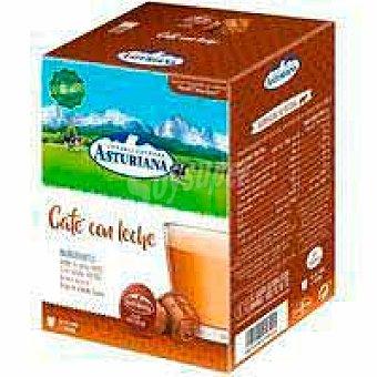 Central Lechera Asturiana Café con leche asturiana, caja 16 monodosis Caja 16 monodosis