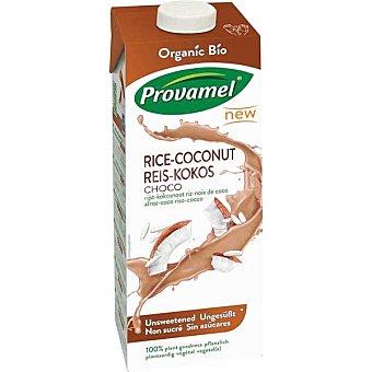 SANTIVERI PROVAMEL Bio Bebida de arroz con coco sabor chocolate sin azúcares brik 1 l Brik 1 l
