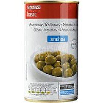 Eroski Basic Aceitunas rellenas de anchoa Lata 150 g