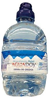 Aguadoy Agua mineral natural (tapón especial niños) Botellin de 330 cc