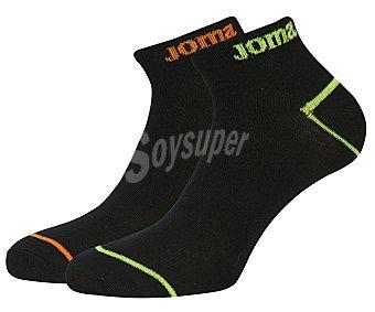 JOMA Pack de 2 pares de calcetines tobilleros de algodón, color negro, talla 39/42 Pack de 2