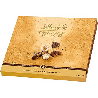 LINDT SWISS LUXURY Collection Bombones suizos surtidos Estuche 445 g