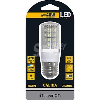 SEVENON 5 W (40W) lampara LED panocha luz calida casquillo E27