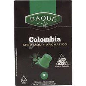 Baqué Café Colombia Caja 10 monodosis
