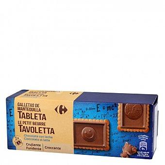 Carrefour Galletas con tableta de chocolate y leche 150 G 150 g