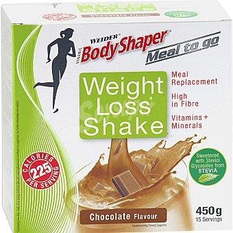 WEIDER Weight Loss Shake batido sustitutivo sabor chocolate 15 sobres envase 450 g 15 envase 450 g