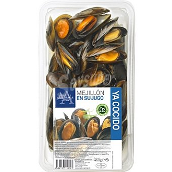Angulas Aguinaga Mejillón cocido en su jugo Bandeja 450 g