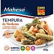 Tempura de verduras berenjena calabacín pimiento rojo y zanahoria Bolsa 400 g Maheso