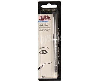 L'Oréal Lápiz de ojos larga duración de color negro nº 301 1 unidad