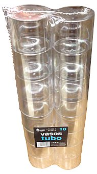 Bosque Verde Vaso desechable plastico tubo 390 cc transparente Paquete 10 unidades (39 cl)